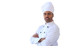 Шеф-повар в белом toque Стоковые Фото