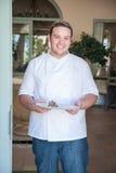 Шеф-повар в входе Стоковое Фото