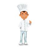 Шеф-повар, в славных, чистых одеждах, выставках классифицирует Стоковые Фото