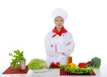 шеф-повар завтрака подготовляет Стоковые Фотографии RF
