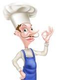 Шеф-повар знака шаржа совершенный Стоковые Изображения