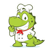 Шеф-повар крокодила или аллигатора иллюстрация штока