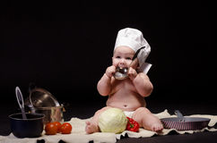 Шеф-повар маленького ребенка Стоковое Изображение
