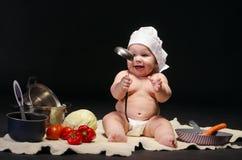 Шеф-повар маленького ребенка Стоковое Изображение RF