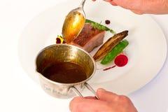 Шеф-повар мяса стоковое изображение rf