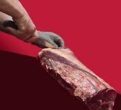 Шеф-повар мясника стоковая фотография rf