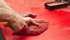 Шеф-повар мясника стоковая фотография