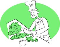 шеф-повар органический бесплатная иллюстрация
