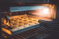 Шеф-повар печет печенья стоковые фото