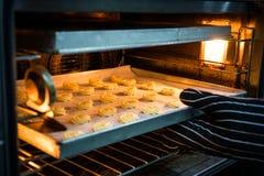 Шеф-повар печет печенья стоковое фото rf