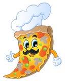 Шеф-повар пиццы шаржа Стоковые Изображения