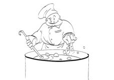 Шеф-повар подготовляет иллюстрация штока
