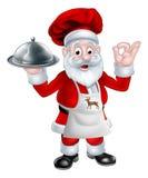 Шеф-повар рождества Санты Стоковая Фотография