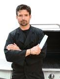 шеф-повар серьезный Стоковая Фотография