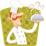 шеф-повар счастливый иллюстрация вектора