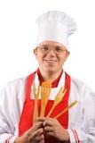 шеф-повар счастливый Стоковые Фото