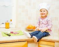 шеф-повар счастливый немногая Стоковые Изображения