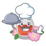 Шеф-повар с едой поднял масло семени форма мультфильма бесплатная иллюстрация