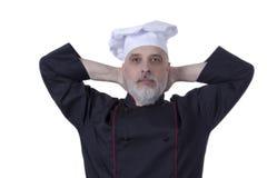 Шеф-повар с серой бородой стоковое фото rf
