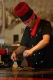 Шеф-повар теппаньяки Стоковое Изображение RF