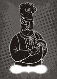 шеф-повар шаржа Стоковые Фотографии RF