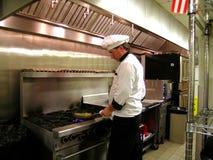 шеф-повар saute Стоковые Фото