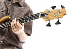 Шея басовой гитары стоковая фотография