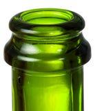 Шея крупного плана зеленой бутылки шампанского Стоковое фото RF