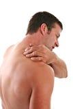 шея человека предпосылки изолированная удерживанием Стоковое Изображение RF