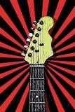шея электрической гитары иллюстрация вектора