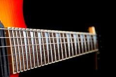 шея электрической гитары Стоковое фото RF