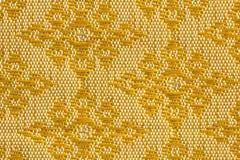 Шелк золотого ромбовидного дизайна тайский Стоковая Фотография RF