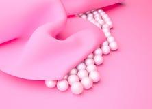 шелк перл розовый Стоковое Фото