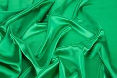 шелк предпосылки зеленый Стоковые Изображения RF
