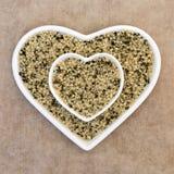 Шелушат еда семени пеньки супер стоковые фото