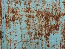 шелушение краски металла grunge предпосылки старое ржавое Стоковая Фотография RF