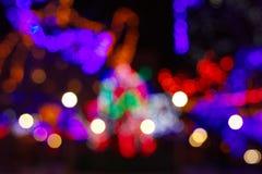 Шикарная абстрактная предпосылка с светами bokeh defocused Стоковая Фотография
