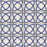 Шикарная безшовная картина Марокканец, португальские плитки, Azulejo, орнаменты Стоковые Изображения