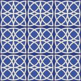 Шикарная безшовная картина Марокканец, португальские плитки, Azulejo, орнаменты Стоковые Фотографии RF