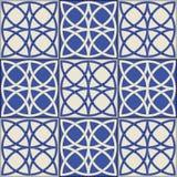 Шикарная безшовная картина Марокканец, португальские плитки, Azulejo, орнаменты Стоковое Изображение RF