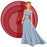 Шикарная женщина одетая для partyrty Стоковое Изображение