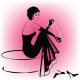 шикарная женщина перл Стоковое Фото
