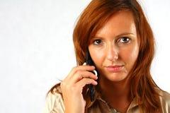 шикарная женщина телефона стоковые изображения