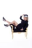 шикарная женщина шлема Стоковая Фотография