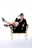шикарная женщина шлема Стоковая Фотография RF