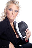 шикарная женщина шлема Стоковые Фотографии RF