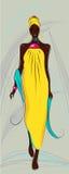 шикарная женщина иллюстрация вектора
