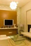 шикарная живущая комната стоковое фото