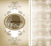 Шикарная карточка приглашения венчания с шнурком иллюстрация штока