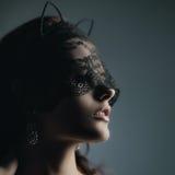 Шикарная кот-девушка Стоковая Фотография RF